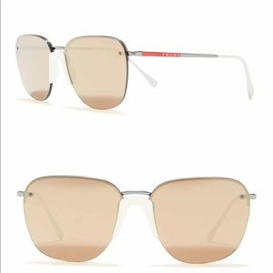 PRADA LINEA ROSSA 57mm Square Sunglasses
